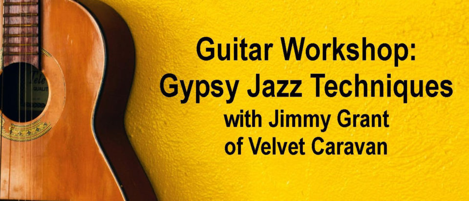Guitar Workshop: Django Reinhardt & Gypsy Jazz Guitar Techniques @ Thrasher Opera House |  |  |